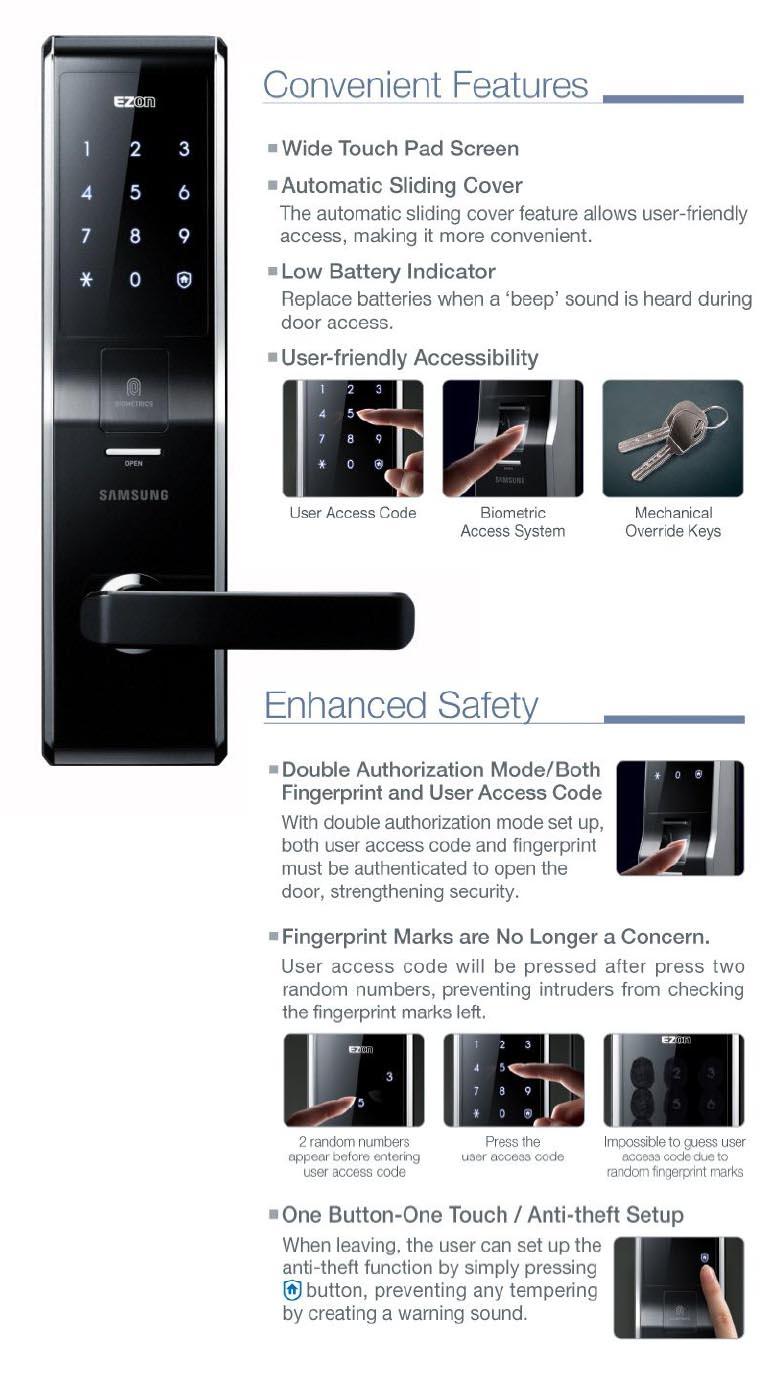 khóa điện tử Samsung H705